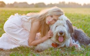 summer portrait with dog by DenisGoncharov