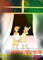 Happy New Year :Kagamine Twins: by AntumnIllusion