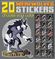 Werewolf sticker by siekfried