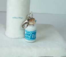 Lon Lon Ranch Bottle Charm Hand Painted Zelda #3 by TorresDesigns