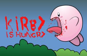 Kirby is hungry by CharlesMuller