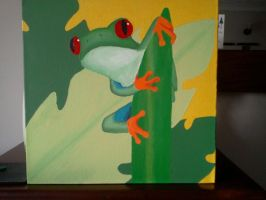 Red eyed tree frog 2 by Silverfang-Chaos
