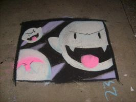 Chalk Boo drawing by SelanPike