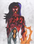 Cosmic Spider woman by ChahlesXavier