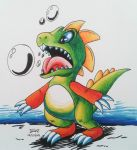 Inktober day 21 bubble bobble by megadrivesonic
