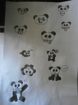 Art Dump: Panda Logos by animepandalover