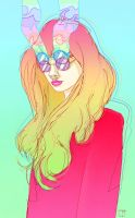 Girl With Glasses by SuperPhazed