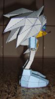 Silver Sonic Game Gear  papercraft prototype by augustelos