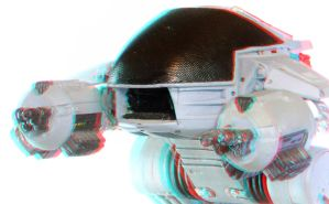 ED-209 Anaglyph 3D by zentron