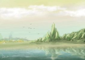 30 minute Landscape by jickersdalida