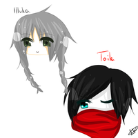 Toila and Illuka /chibiheads by Karikumik