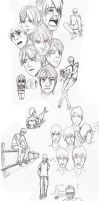 One more... sketch dump :D by Arania-chan