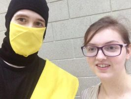 Me as scorpion and Rey  by MrL3821