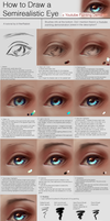 How to Draw a Semirealistic Eye [Tutorial] by b1tterRabbit
