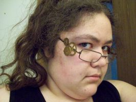 Steampunk Glasses -Worn Right- by I-Am-Imaginary