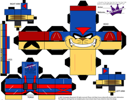 Cubeecraft T-Bone From the TV Series Swat Kats PT1 by SKGaleana