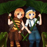 +The boy and the bee+ by Tea-desu