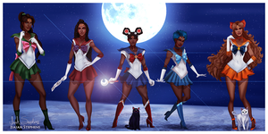 Black Sailor Scouts by IsaiahStephens