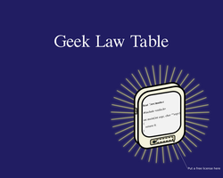 Geek Law Table by yeassay
