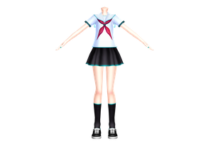 Summer Sailor Uniform Base DL by LenMikuLover