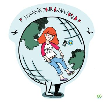 idioms pt.1 - Living in your own world by Turquoise-luck