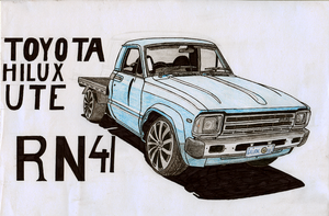 Toyota Hilux Ute RN41 by BlackLeatheredOokami
