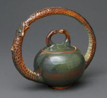 Ouroboros tea pot by cl2007