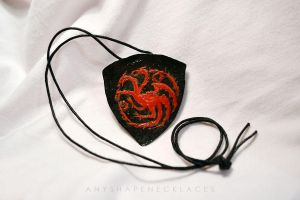 Game of Thrones Targaryen emblem by AnyShapeNecklaces