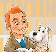 Tintin and Snowy by QGildea