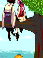 NARUTO. sitting in a tree by strawdoll