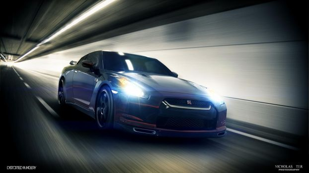 Nissan GTR Tunnel by DistortedImagery