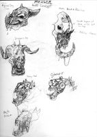 Mauler head concepts by Iron-Fox