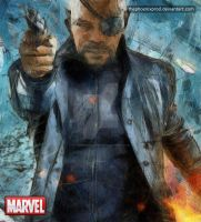 Marvel - The Avengers - Nick Fury by thephoenixprod