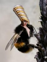 Miss Bee Hive by the-surreal-arts