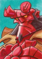 Hellboy Sketchcard by Chad73
