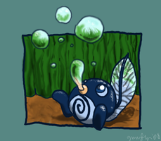 Poliwag in Color by the19thGinny
