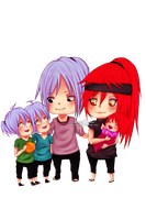 CP: Chibi sweet family by Wosda