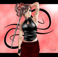 +Girl with katana+ by sweetcloud