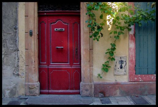 Red Door Rectangulared by zasu
