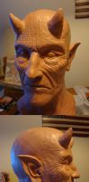 Unfinished Devil Sculpt by GorillaEye
