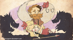 Dont Starve Woody and Wendy by TheCatInPaint