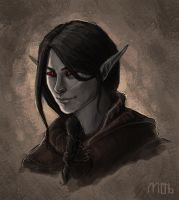 Dunmer nerd by Woodsie-One