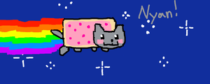WATCH ME DRAW THE NYAN CAT by kisekinokami