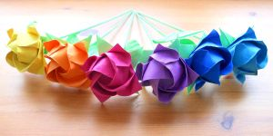 Rainbow Kawasaki Roses by Fail-to-Pale