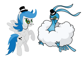 Zeeraw and Altaria Go British Day 66 by DrLonePony