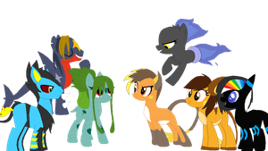 Pokepone group shot by Fluffomaru
