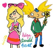 HA: Arnold Loves Helga by InvisibleDeath