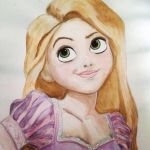 Water color Rapunzel by plmethvin
