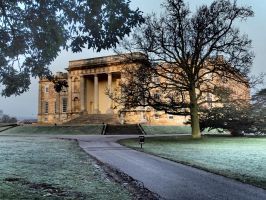 Kimbolton Castle Foggy Morning by davepphotographer