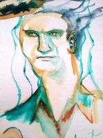 Watercolour dude by mapocho